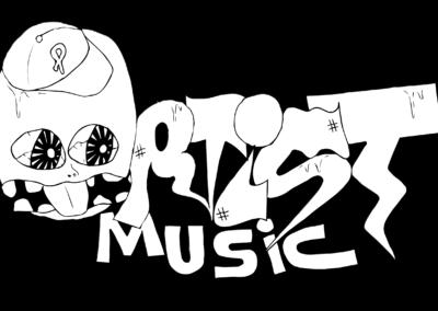 Logo Ortiste vectorise blanc